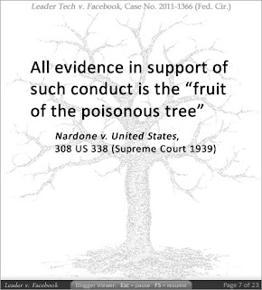 All evidence in support of such conduct is the 'fruit of the poisonous tree. Nardone v. United States, 308 US 338 (Supreme Court 1939)