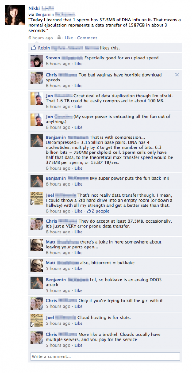 Funny Facebook Status Update And Comments