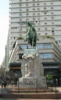 "Monument to ""gaucho"" In front of the Municipality of Montevideo"