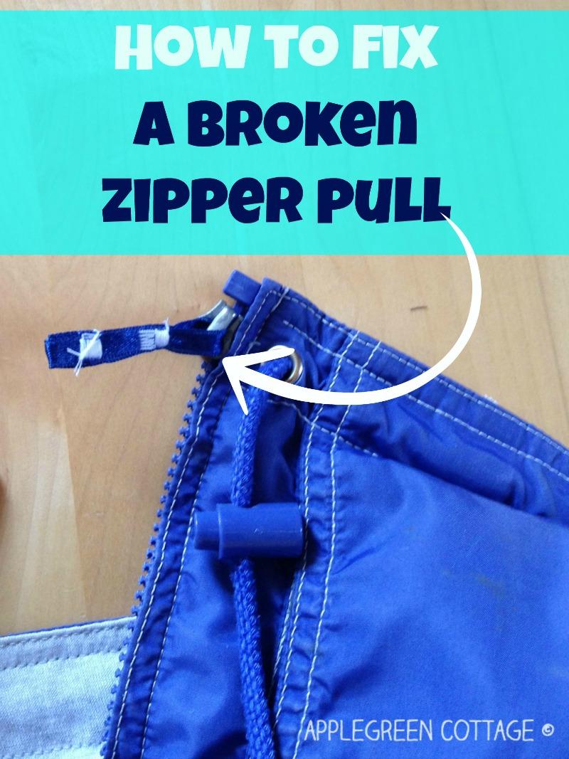 How to fix a broken zipper pull applegreen cottage how to fix a broken zipper pull ccuart Gallery