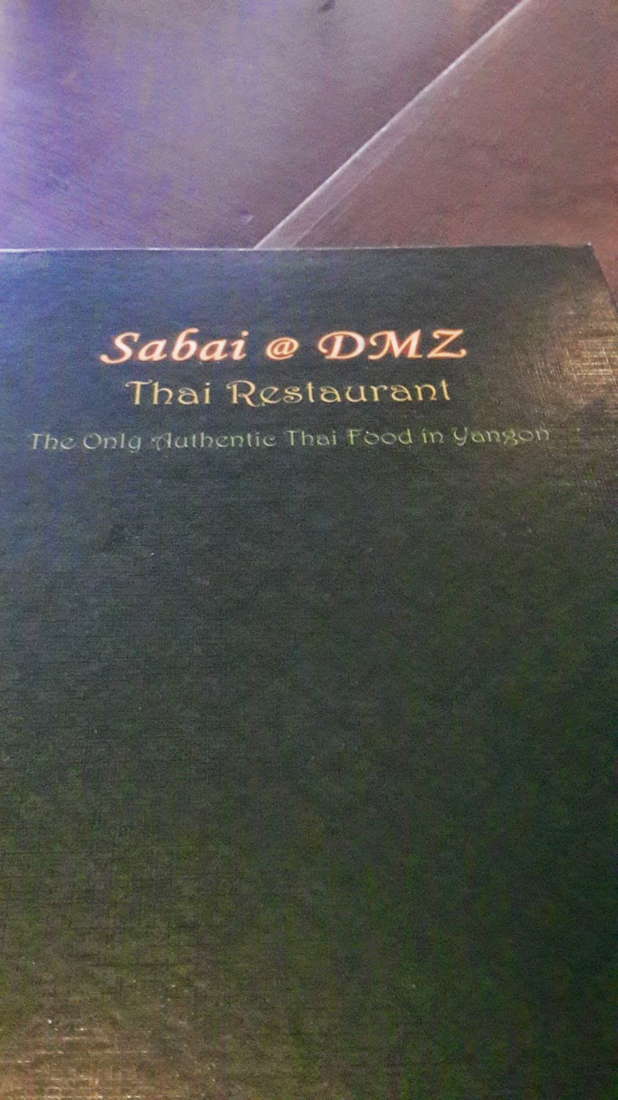 Sabai @ DMZ Restaurant menu
