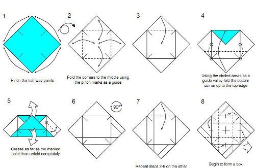 Gosto De Fazer Arte Caixa Em Origami