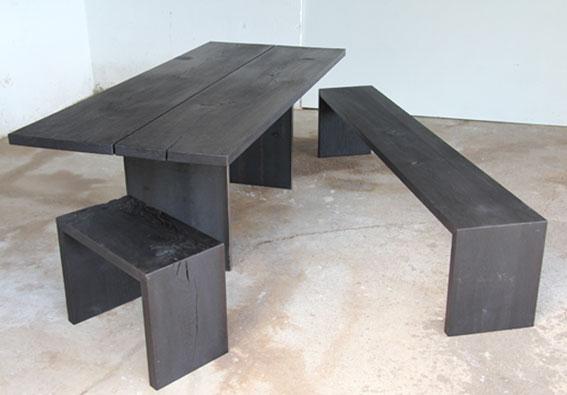 Stefan knopp tische for Tisch dunkel