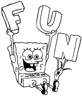 Spongebob Halloween Coloring Pages 10