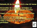 Encendido de velas por el primer aniversario del incendio forestal de Alcublas