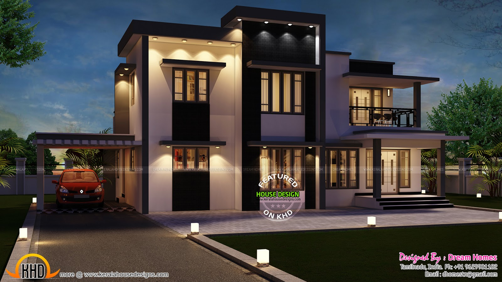 September 2015 kerala home design and floor plans for Best architecture home design in india