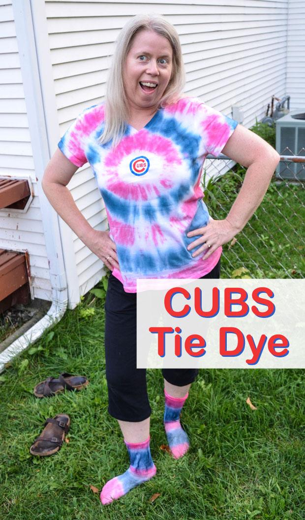Diana Rambles Cubs Tie Dye Shirt