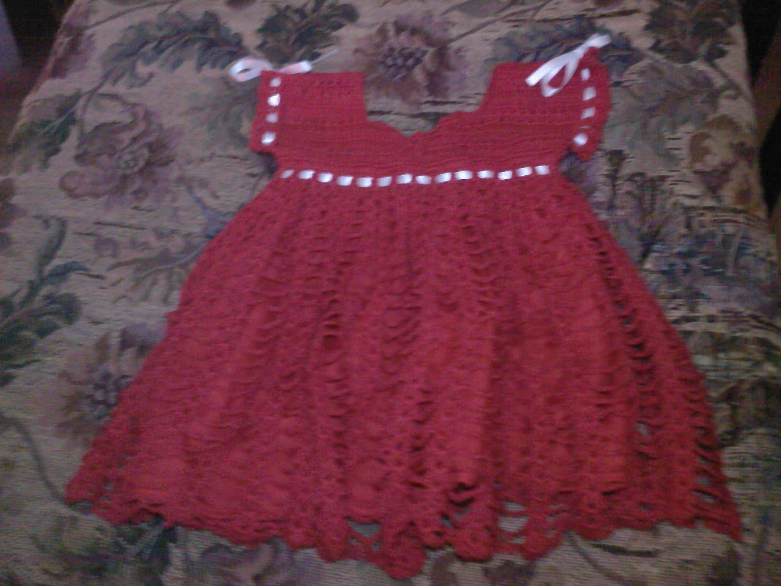 la aprendiz: vestido para bebe tejido a ganchillo.