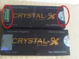 DOUBLE HOLOGRAM TANDA ASLI CRYSTAL X