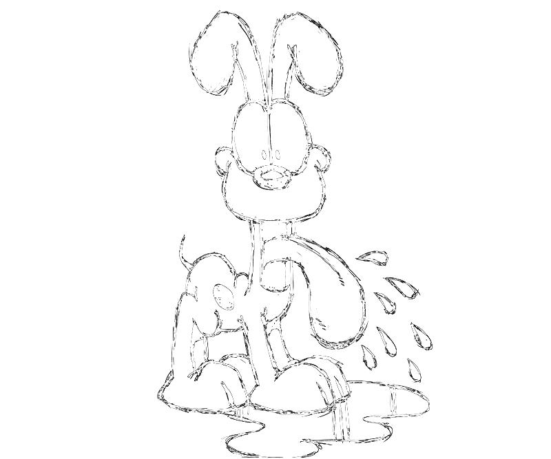 printable-odie-funny-coloring-pages