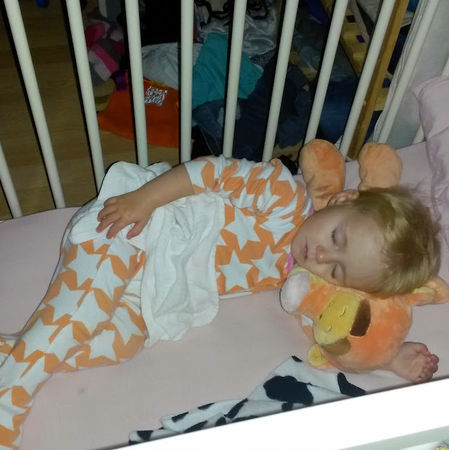 Single Mother Ahoy Sleeping Baby with Tigger