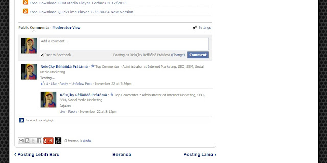 Cara Membuat Komentar Facebook di Blog - Tutorial Lengkap