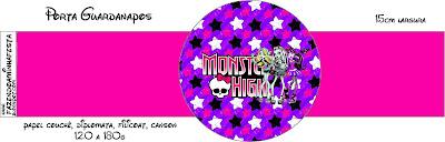 Free Printable Monster High Napkin Rings.