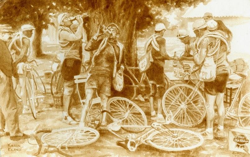 10-Pbr-Break-Tour-De-France-Karen Eland-Vintage-Looking-Beer-and-Water-Paintings-www-designstack-co
