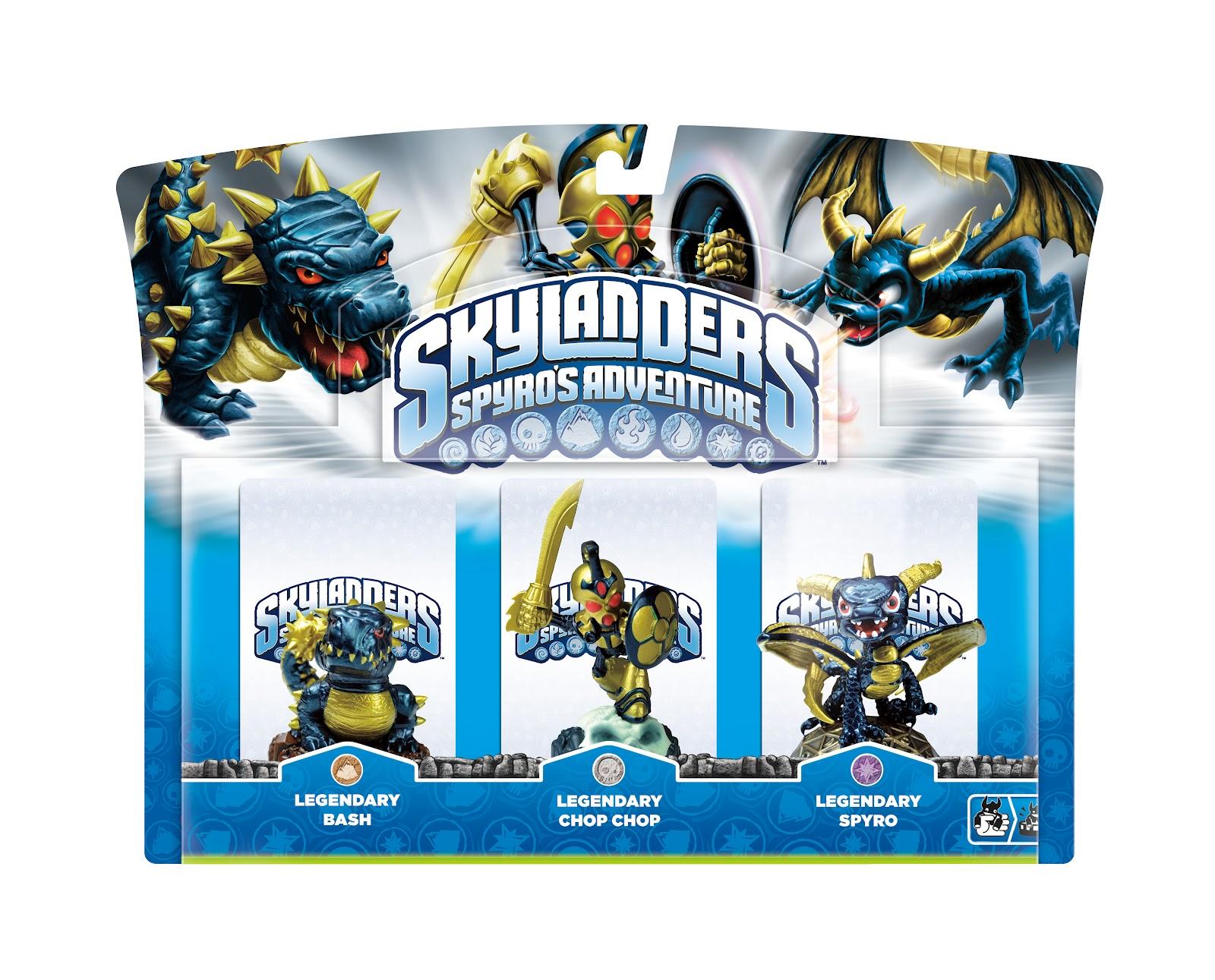 Triple Pack Legendario de Skylanders Spyro's Adventure