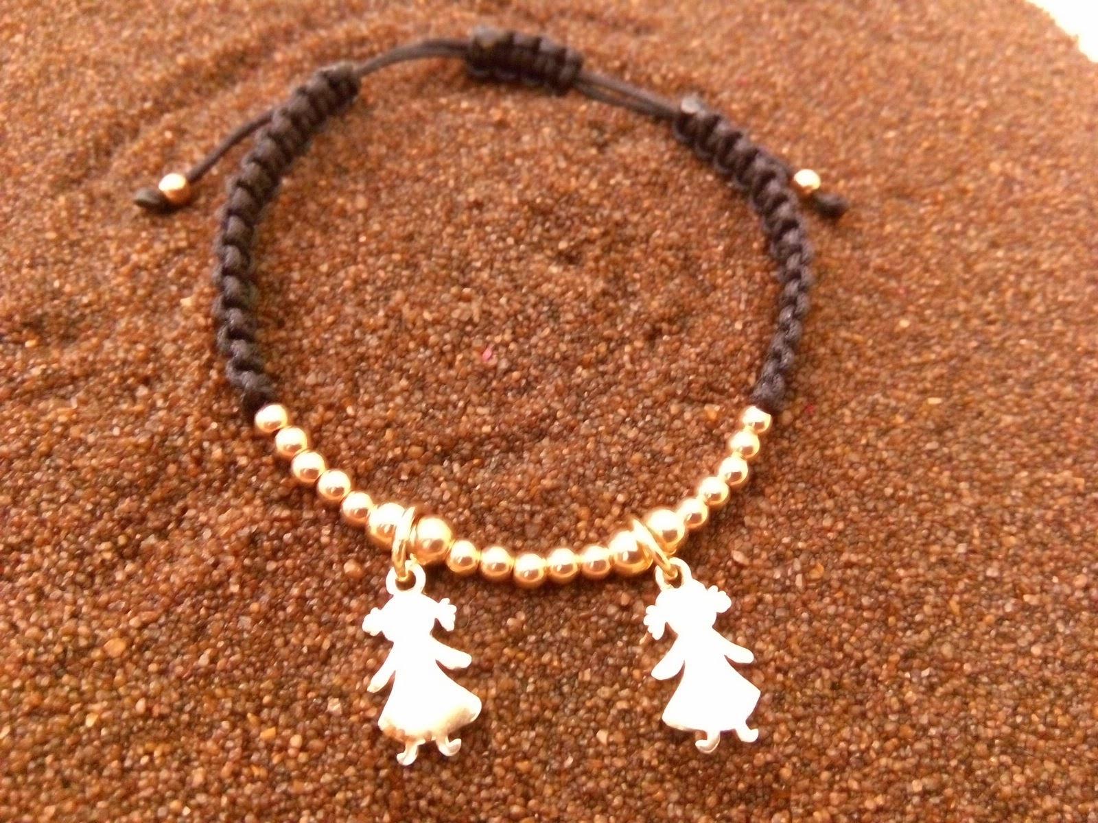 Pulsera para el día de la madre en plata chapada en oro rosa Joyería artesanal personalizada