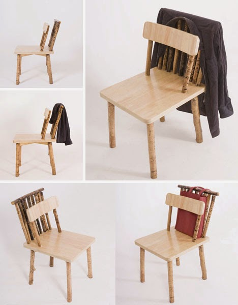 stick branch unique chair