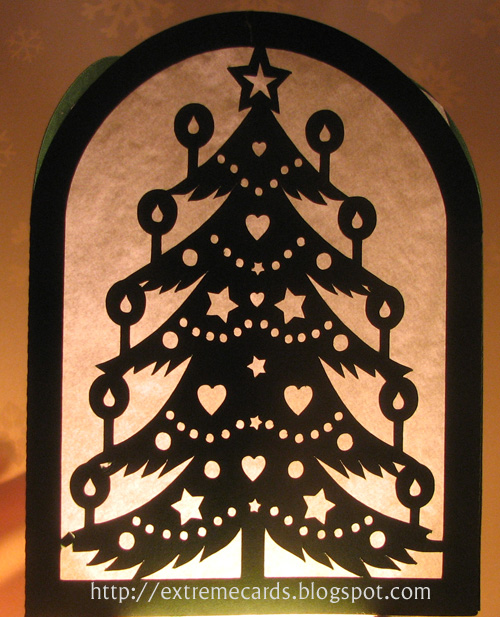 Scherenschnitte Christmas Patterns http://extremecards.blogspot.com/2012/11/christmas-tree-lantern-or-card.html