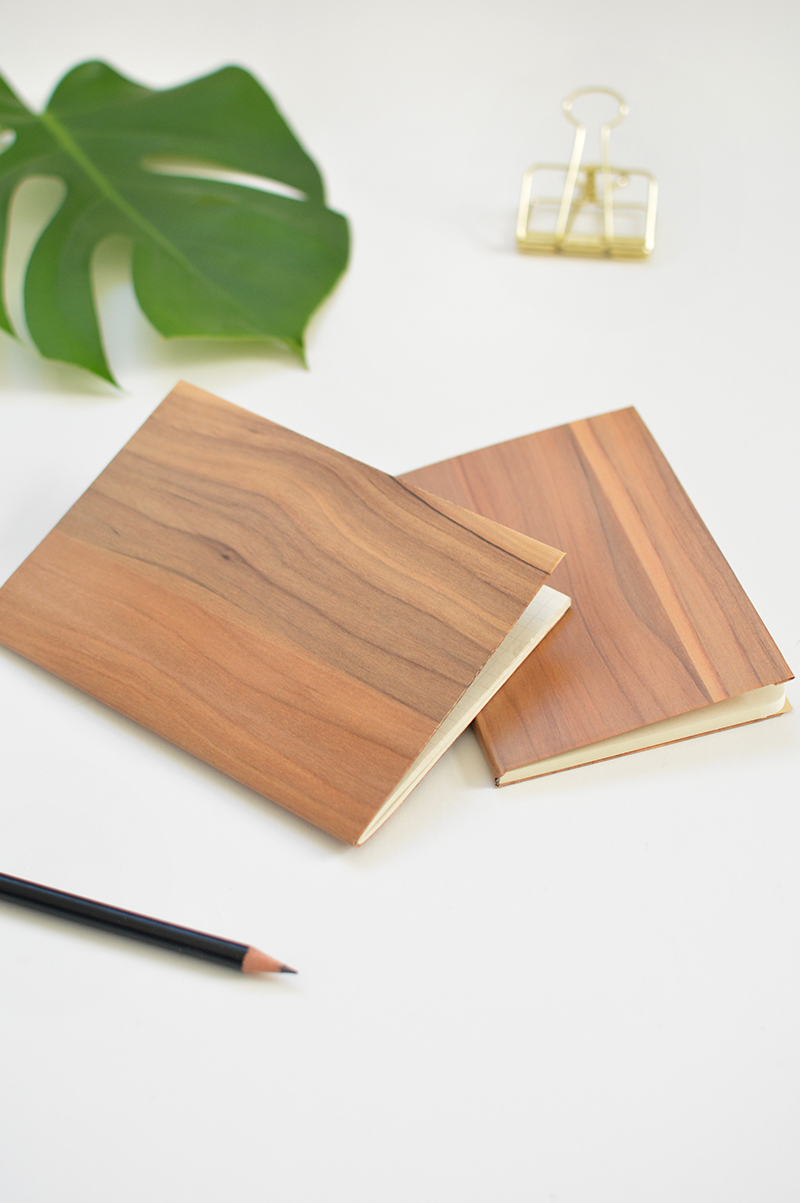 DIY stationery- wood notebook
