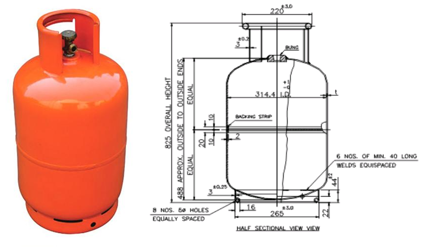 Gas Tank Size Malaysia >> Domestic Gas Cylinder – CAE Analysis Report | Software Training Center & Job Consulatancy in ...