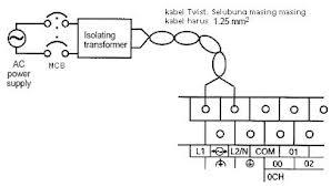 Belajar plc omron kbm 4 pemasangan pengawatan gambar penyambungan catu daya plc asfbconference2016 Images