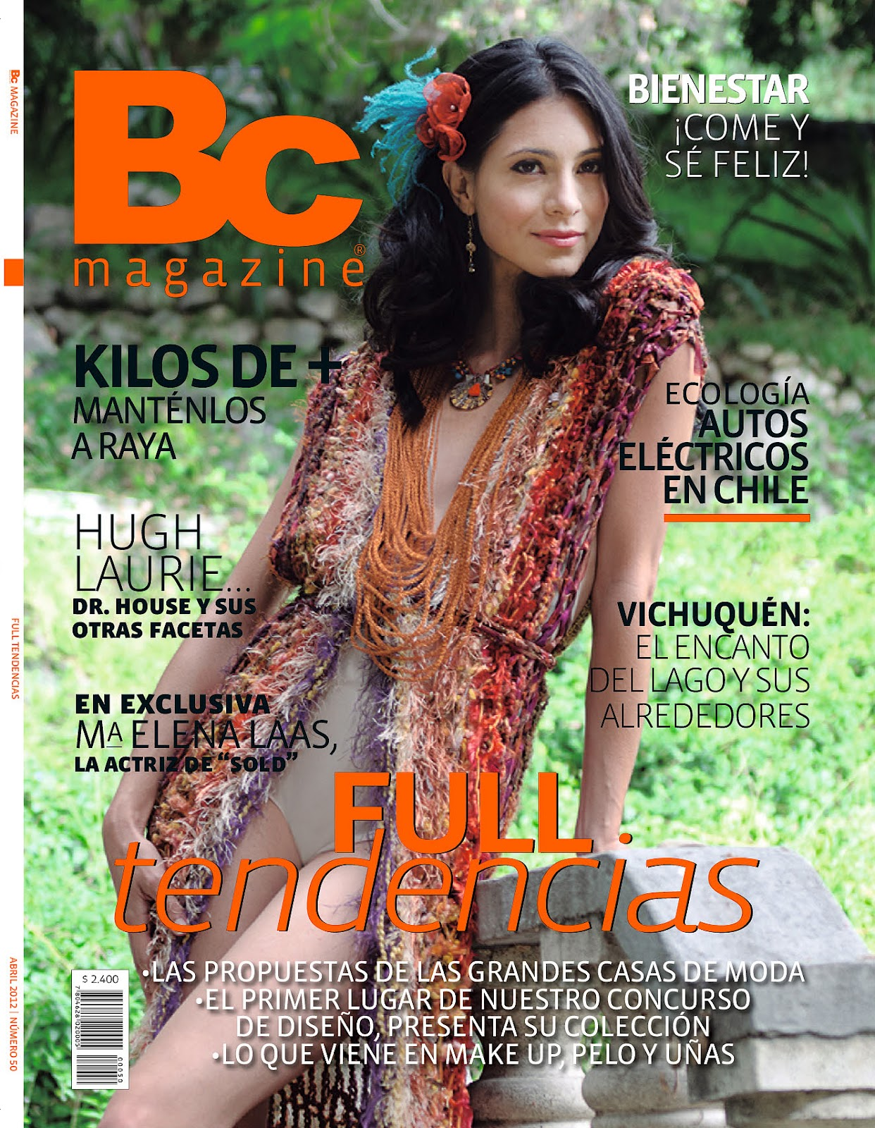 Maria Elena Laas On Cover Of Bc Chile