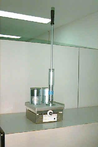 Molde y martillo para compactan de núcleos ensayo Marshall