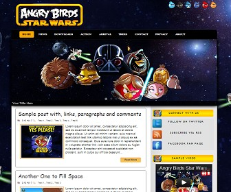 5 Template Angry Bird Blog terbaru 2013