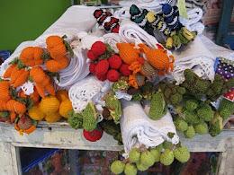 Handtücher, Gehäkelte Früchte
