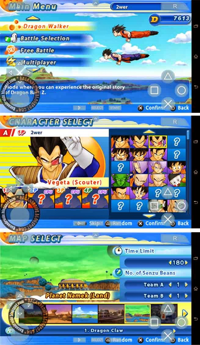 Game PSP for android goku dragonball