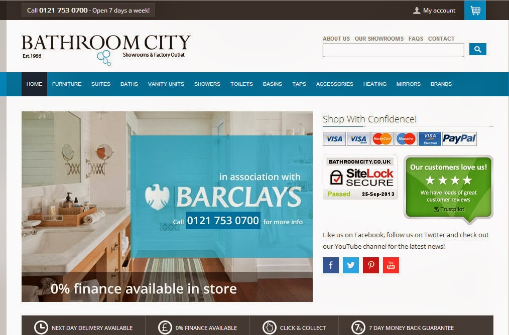 Bathroom City : Bathroom City: Bathroom Citys New Website Launch!