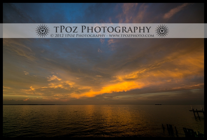 Sunset at Kurtz's Beach Wedding Reception