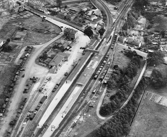 Fareham station from the air