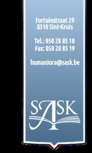 SASK: een ASO-school in de groene rand van Brugge met een ruim studieaanbod!