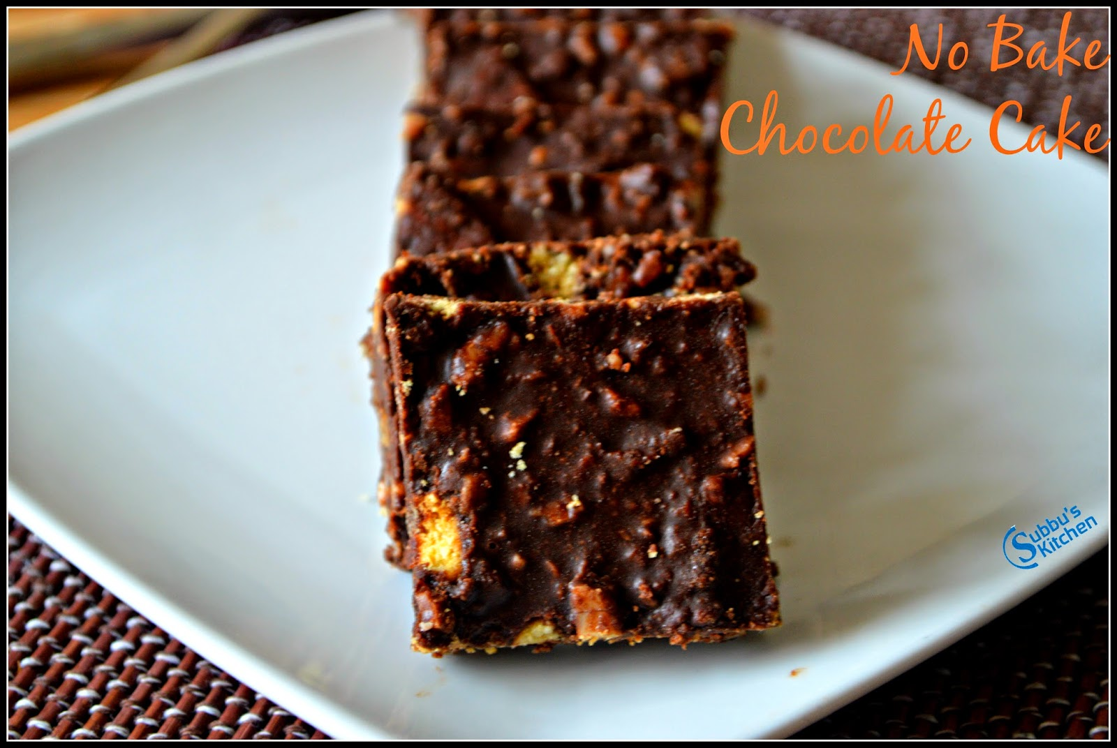 No Bake Chocolate Cake | Chocolate Fridge Cake