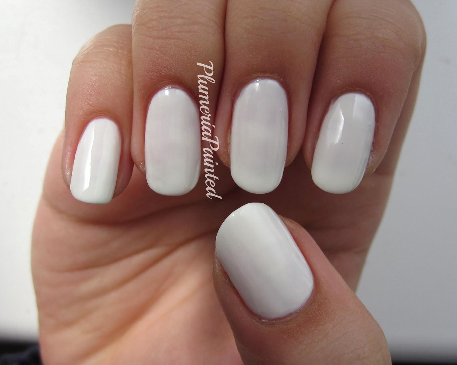 PlumeriaPainted: White Nails: No.7 - Snowflake