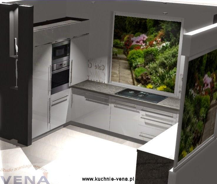 Meble kuchenne Lublin -Vena- biała kuchnia w połysku