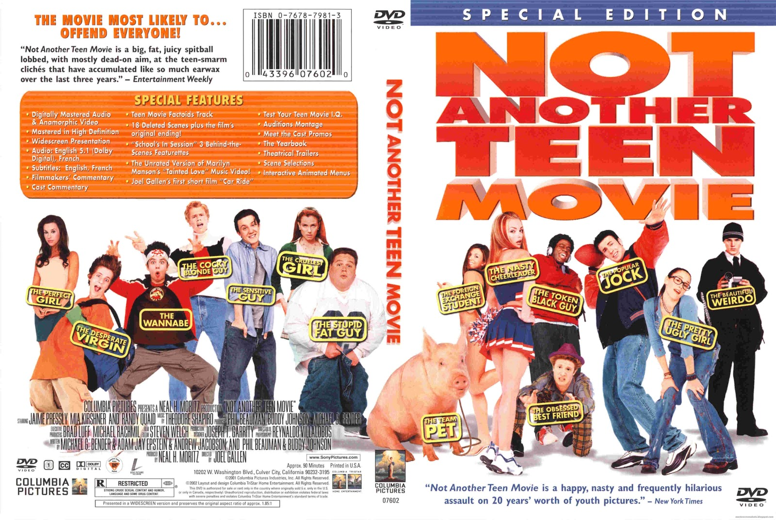 Not Another Teen Movie Movie Trailer and Videos TV