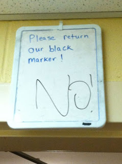 please return our black marker. no!