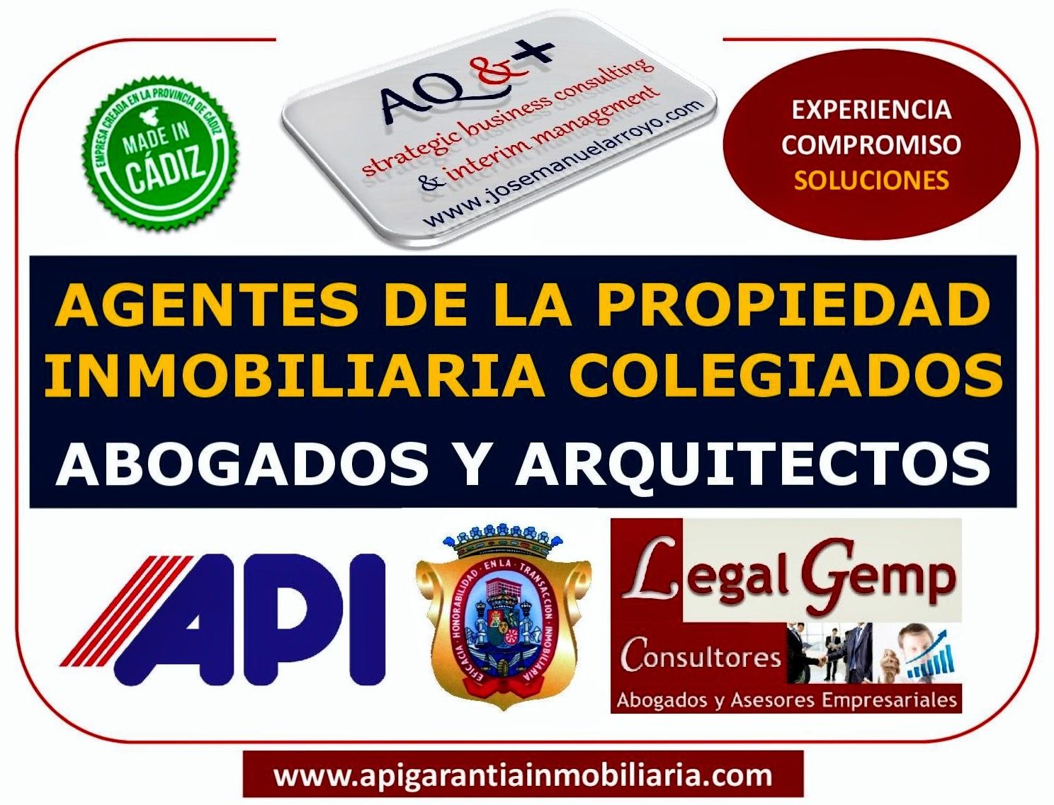 AGENTES DE LA PROPIEDAD INMOBILIARIA COLEGIADOS, ABOGADOS Y ARQUITECTOS.