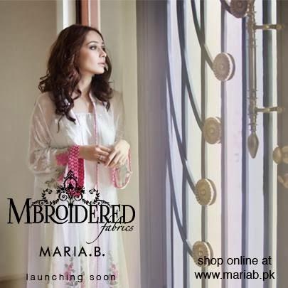Maria.B Embroidered Fabrics 2014