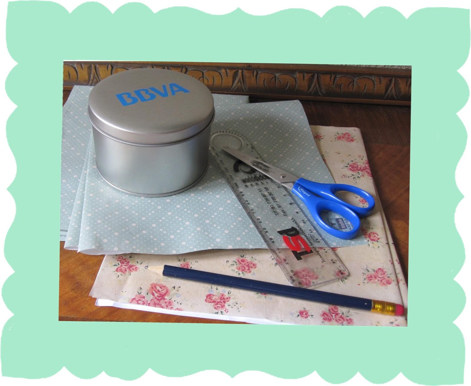 El arte de las cosas nimias decorar un bote de metal en - Como decorar una caja de metal ...