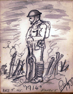 Sketch or drawing of 1914 World War I