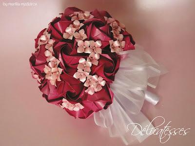 buquê de papel pink rosa