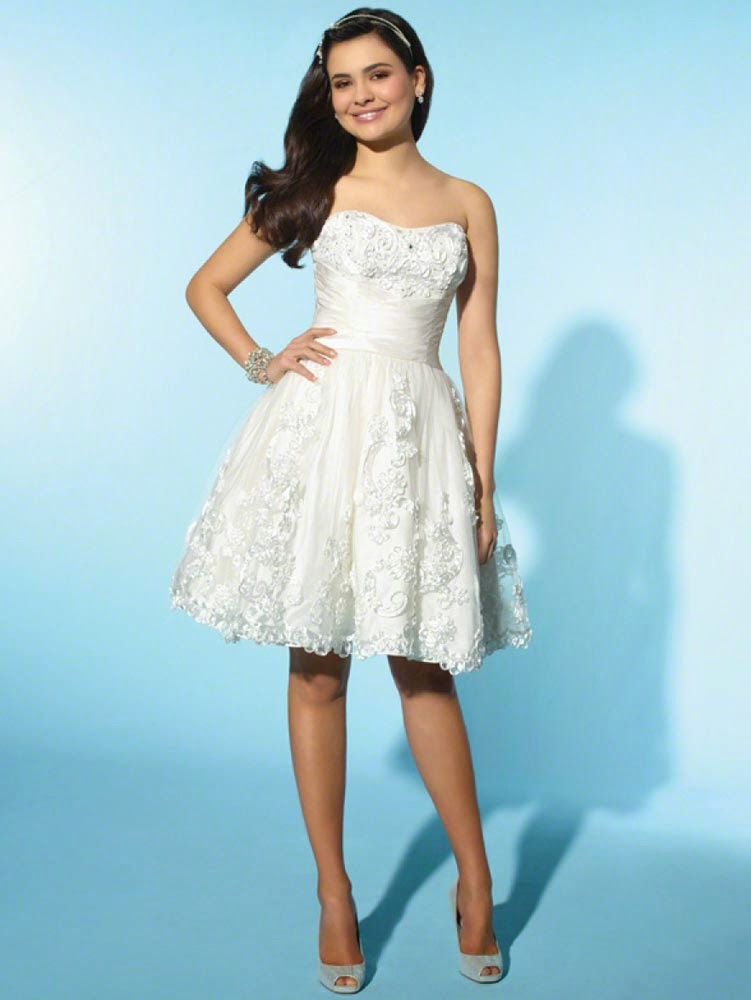 Short Informal Wedding Gowns Simple Design pictures hd