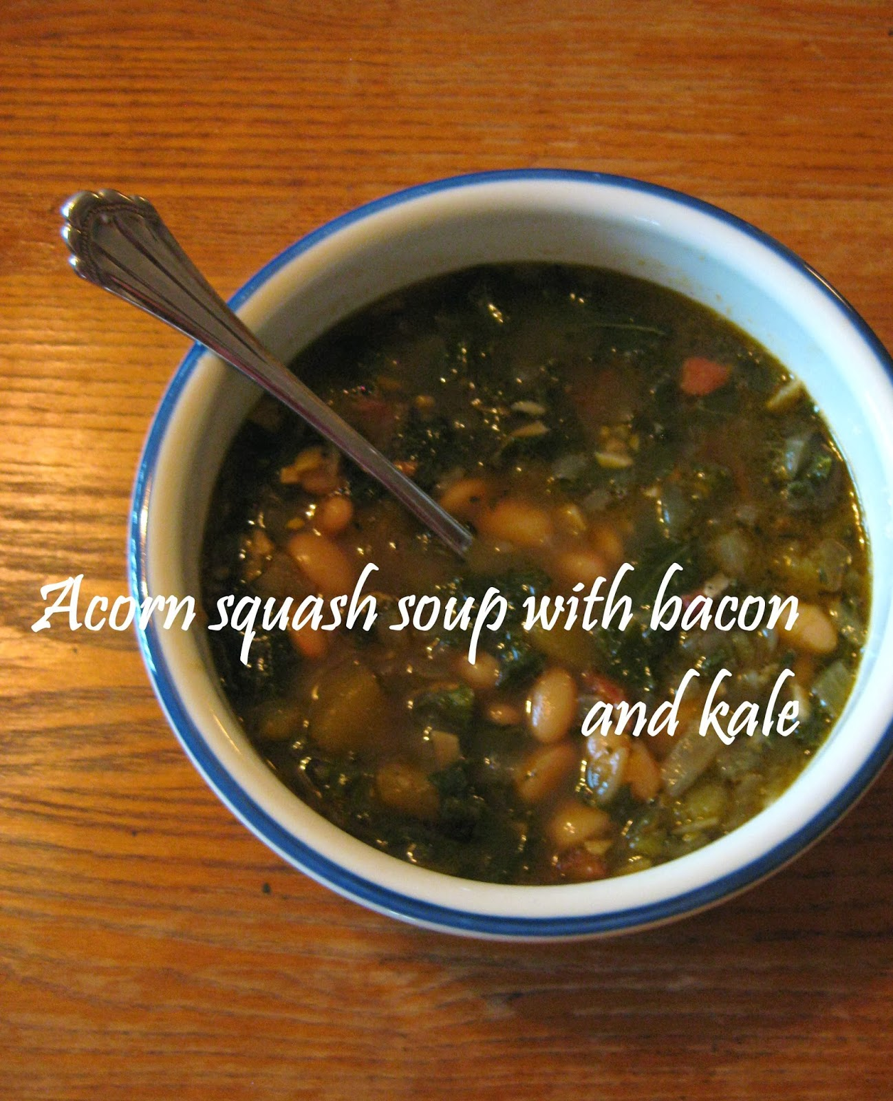 Homestyle Cooking: Acorn Squash Soup with Bacon and Kale