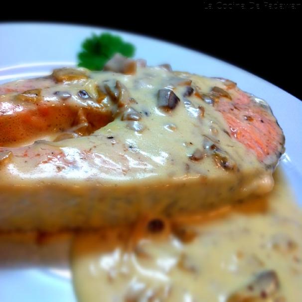 La cocina de padawan salm n con salsa de champi ones - Salmon con champinones ...