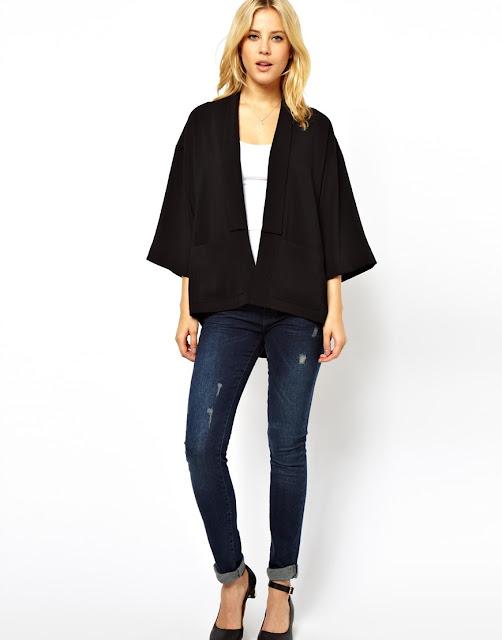 black kimono top