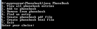 Phonebook in Java