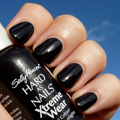 Sally Hansen Black Stiletto Nail polish swatch